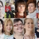 A collage of 9 teenage and adult women and two children who are all contributors of the film We Are Visible