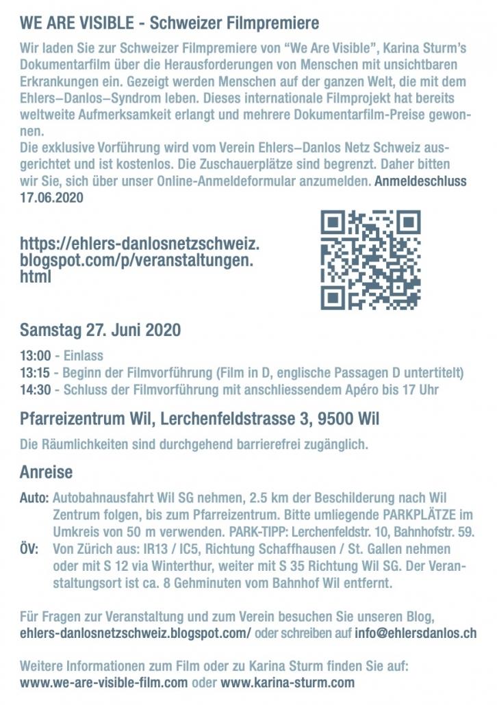 Details zur Filmpremiere in der Schweiz.